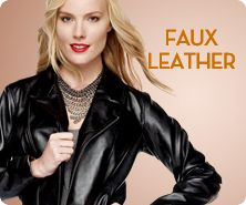 M by Marc Bouwer faux-leather jacket with ruffle hem