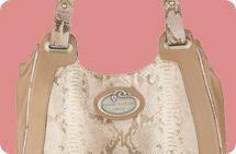 Malini Murjani metallic printed python hobo bag