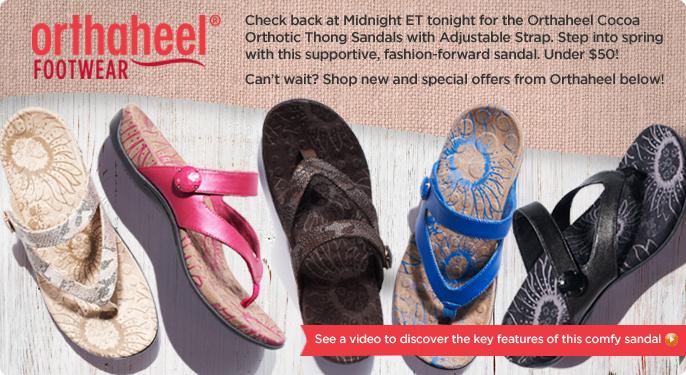 Orthaheel Cocoa Orthotic Thong Sandals w/ Adj. Strap