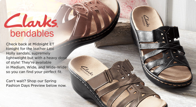 Clarks Bendables Lexi Holly Leather Lightweight Sandals