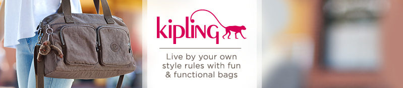 Kipling.  Live by your own style rules with fun & functional bags