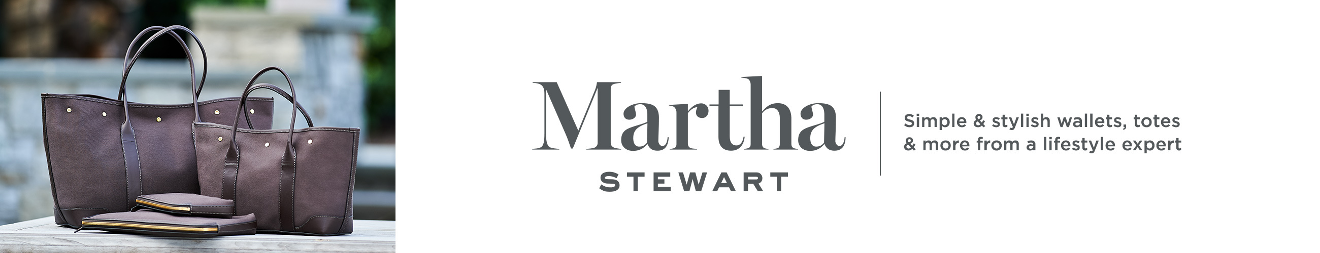 Martha Stewart. Simple & stylish wallets, totes & more from a lifestyle expert