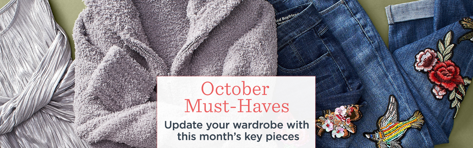 October Must-Haves  Update your wardrobe with this month's key pieces