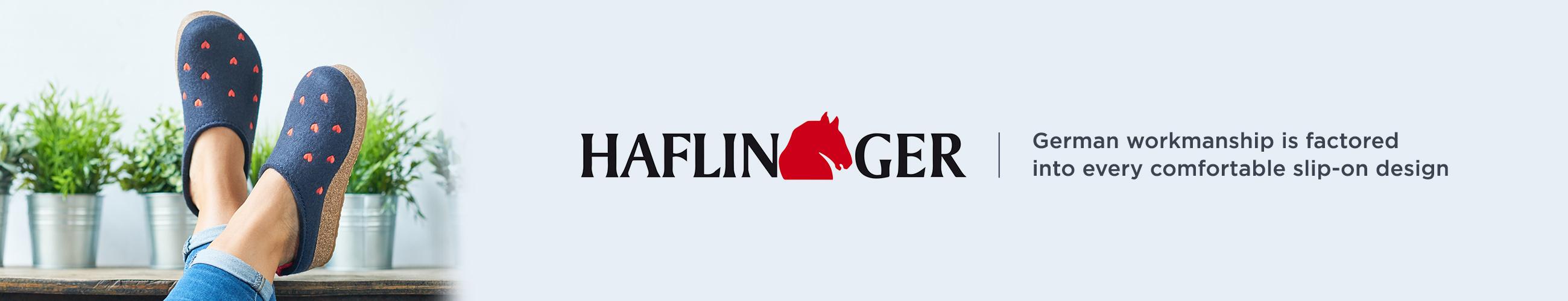 Haflinger. German workmanship is factored into every comfortable slip-on design