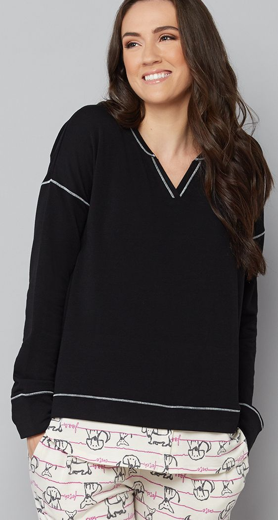 Ladies Lounge Wear Womens Sweatshirt Joggers Set Knit Tracksuit Pants Plus Size