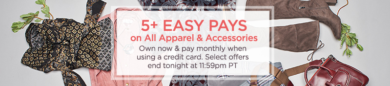 Fashion & Accessories on Easy Pay