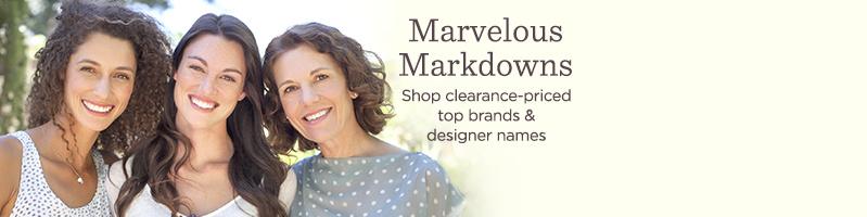 Marvelous Markdowns Shop clearance-priced top brands & designer names