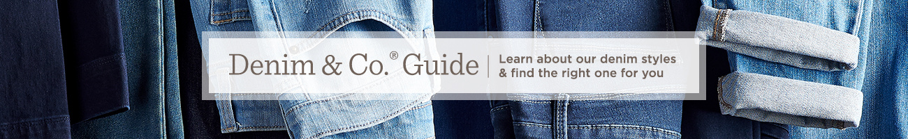 Denim & Co.® Guide. Learn about our denim styles & find the right one for you