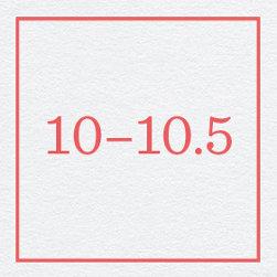 10–10.5