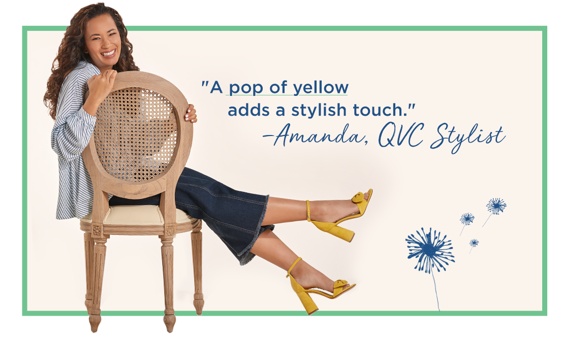 """A pop of yellow adds a stylish touch."" —Amanda, QVC Stylist"