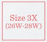 Size 3X (26W-28W)