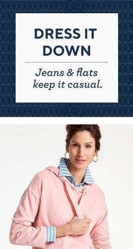 Dress It Down  Jeans & flats keep it casual.