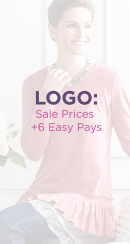 LOGO: Sale Prices + 6 Easy Pays