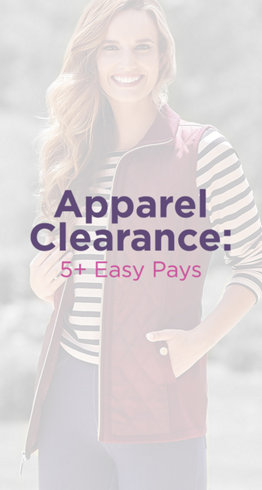 Apparel Clearance: 5+ Easy Pays