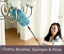Cloths, Brushes, Sponges & More