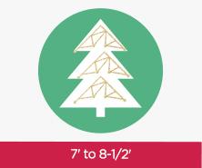 7 to 8-1/2 Feet Trees