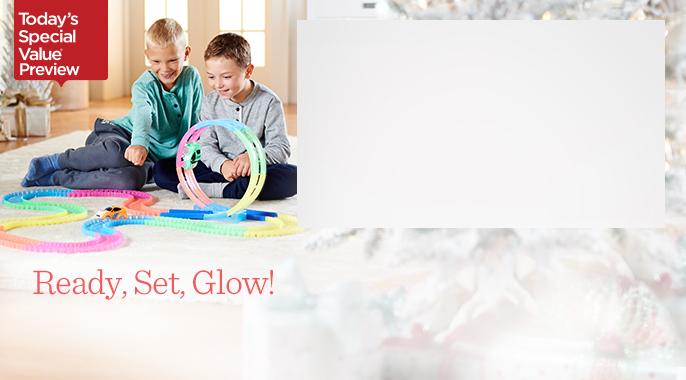 Twister Trax 360 15ft Glow in the Dark Track with Two Light Up Cars
