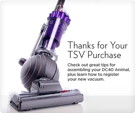 Dyson DC40 Animal Upright Vacuum with Tools & Tangle-Free Turbine