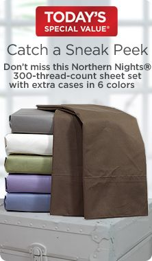 Northern Nights® Lily 300-thread-count cotton sheets with extra cases