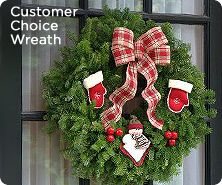 Fresh balsam Customer Choice wreath by Valerie Parr Hill