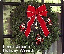 Balsam fir holiday wreath by Valerie Parr Hill