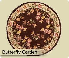 Royal Palace® butterfly garden handmade wool rug