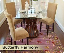 Royal Palace® butterfly harmony handmade wool rug