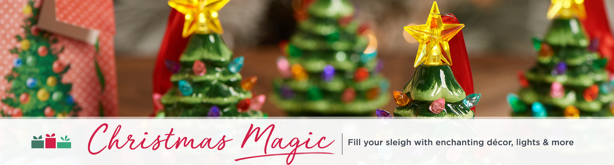 christmas magic fill your sleigh with enchanting dcor lights more - Light Up Presents Christmas Decorations