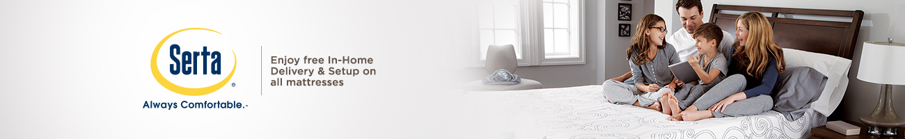 Serta. Enjoy free In-Home Delivery & Setup on all mattresses