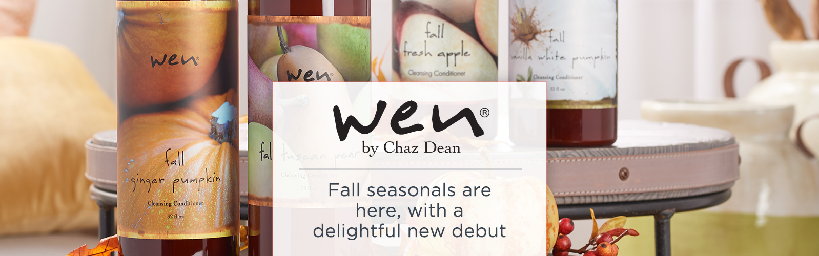 WEN by Chaz Dean - Fall seasonals are here, with a delightful new debut