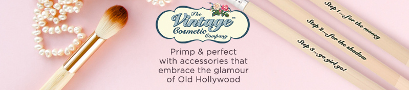 The Vintage Cosmetic Company,  Primp & perfect with accessories that embrace the glamour of Old Hollywood