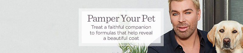 Pamper Your Pet  Treat a faithful companion to formulas that help reveal a beautiful coat