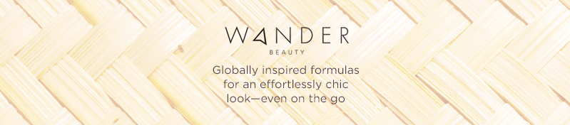 Wander Beauty,  Globally inspired formulas for an effortlessly chic look—even on the go