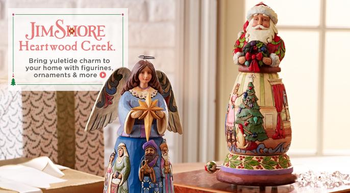 Jim Shore Heartwood Creek Rotating Musical Santa