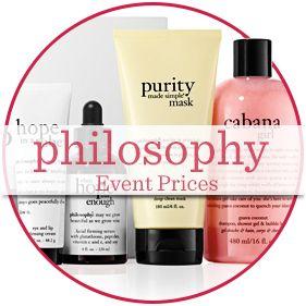 philosophy Event Prices