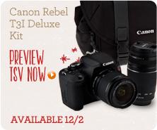 Canon Rebel T3i Deluxe Kit