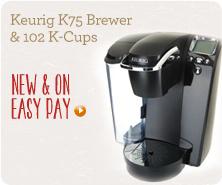 Keurig K75 Brewer & 102 K-Cups