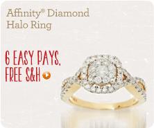 Affinity(R) Diamond Halo Ring