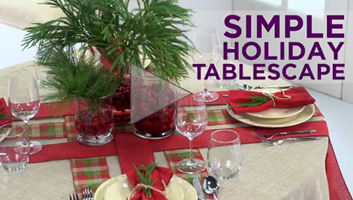 Simple Holiday Tablescape