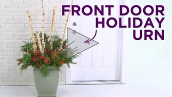 Front-Door Holiday Urn