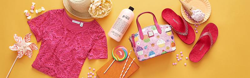 Color of the Month: Pink. Add splashes of this flirty & feminine favorite all summer long