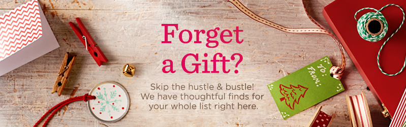 Forget a Gift, Skip the hustle & bustle! We have thoughtful finds for your whole list right here.