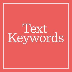 Text Keywords