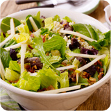 Green Salad with Pears, Gorgonzola & Cranberry Dressing