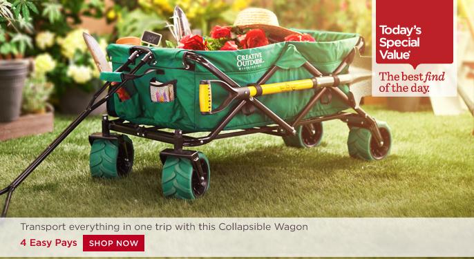 QVC) 3 31 15 Creative Outdoor All-Terrain Folding Wagon ... 091328ae2804