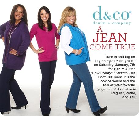 Denim & Co. How Comfy(TM) Stretch Knit Boot Cut Jean