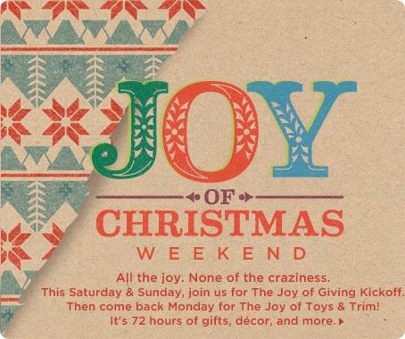 The Joy of Christmas Weekend