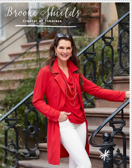 4411fd6fe3e Brooke Shields. InsideQ  What inspired you to launch your line Timeless™  here at QVC