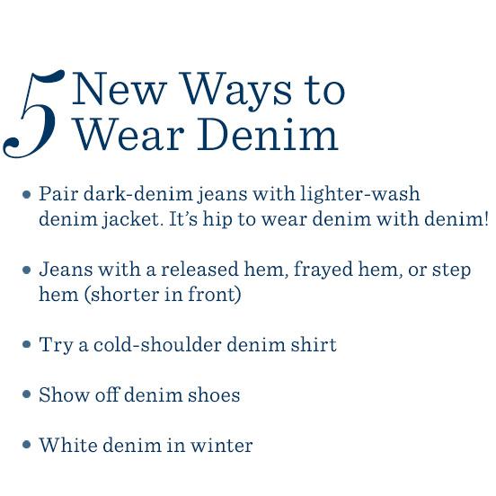 5 New Ways to Wear Denim