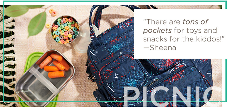"""Picnic Bag. """"There are tons of pockets for toys and snacks for the kiddos!"""" —Sheena"""